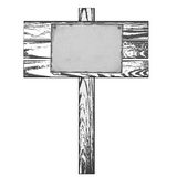 Wooden signpost Royalty Free Stock Image