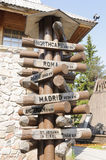 Wooden signpost Stock Photos