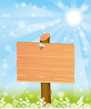 Wooden signpost. Royalty Free Stock Photography