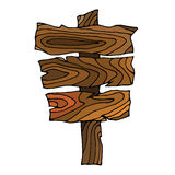 Wooden Signpost Royalty Free Stock Images
