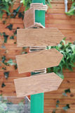 Wooden signposts for navigation. Royalty Free Stock Photos