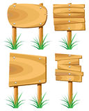 Wooden signs Stock Photo