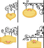 Wooden signs. In retro style royalty free illustration