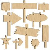 Wooden signs Royalty Free Stock Images