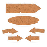 Wooden signs, arrows, signboards Royalty Free Stock Images