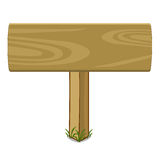 Wooden signs clipart. Props Wooden signs clipart on White background Royalty Free Stock Photos