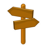 Wooden signs  illustration Royalty Free Stock Images