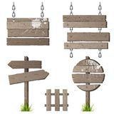 Wooden signs Stock Image