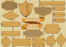 Wooden Signs Set Stock Photo
