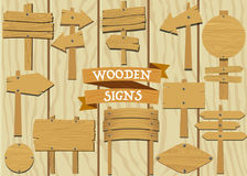 Wooden Signs Set Stock Image