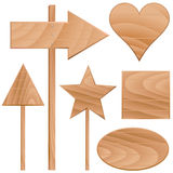 Wooden signs vector Royalty Free Stock Photo