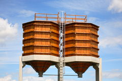 Wooden silos Stock Photography
