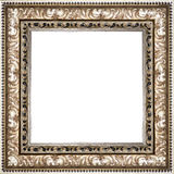 Wooden silver vintage picture frame isolated on white background Stock Images