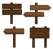 Wood signs Royalty Free Stock Images
