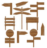 Wooden sings set Stock Images