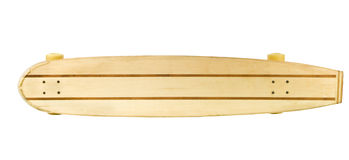 Wooden skate board top side Royalty Free Stock Photo