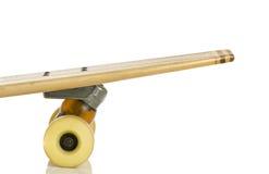 Wooden skate boards  back on white Stock Images