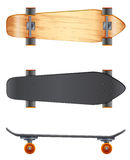 Wooden skateboards Royalty Free Stock Photos
