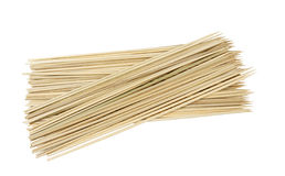 Wooden skewers Royalty Free Stock Images