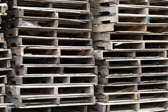 Wooden Skid Pallets Royalty Free Stock Photography