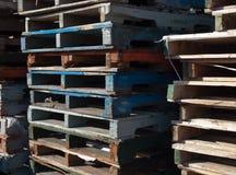 Wooden Skids Stock Photo