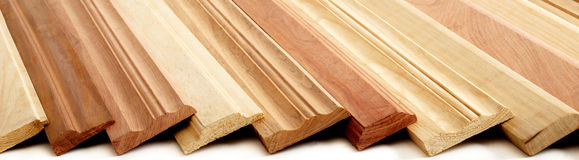 Wooden Skirting Boards Stock Images