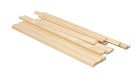 Wooden skirting boards Stock Photography