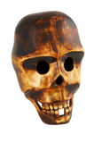 Wooden skull Royalty Free Stock Images