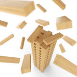 Tower of wood blocks Stock Images