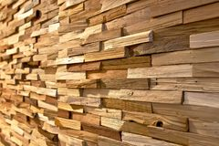 Wooden slats wall Stock Images