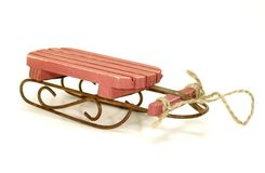 Wooden Sled Royalty Free Stock Photography