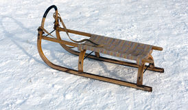 Wooden sledge Royalty Free Stock Images