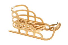 Wooden sledge Royalty Free Stock Photography