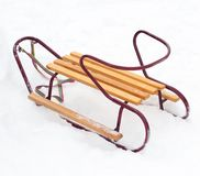 Wooden sledge Stock Images
