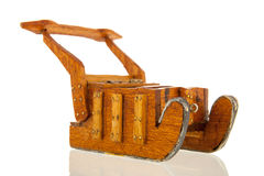 Wooden sledge Stock Image