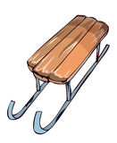Wooden Sledge. Royalty Free Stock Photography