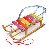 Wooden Sledges Royalty Free Stock Images
