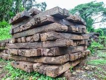 Wooden sleeper Stock Photo