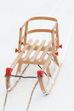 Wooden sleigh Royalty Free Stock Photos