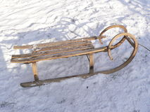 Wooden sleigh Stock Photos