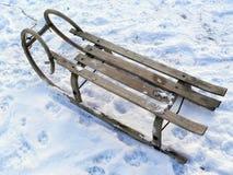 Wooden sleigh Stock Photo