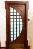 Wooden sliding door stock photos