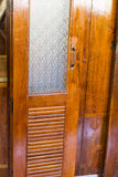 wooden sliding and folding door Stock Photography