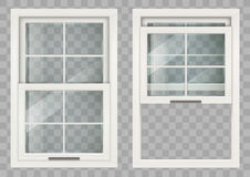Wooden Sliding window Royalty Free Stock Images