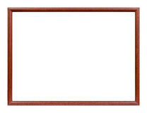 Wooden slim picture frame. Studio shot of slim wooden picture frame Royalty Free Stock Photo