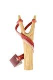 Wooden slingshot Royalty Free Stock Photos