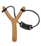 Wooden slingshot vector illustration Stock Images