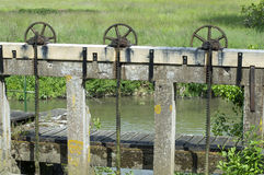Wooden sluice Royalty Free Stock Image
