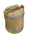Wooden small barrel isolated, Royalty Free Stock Photo