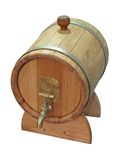 Wooden small barrel isolated, Royalty Free Stock Photography